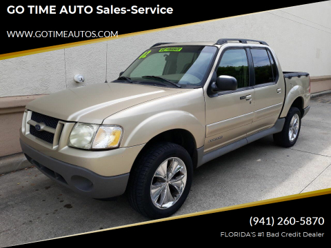2002 Ford Explorer Sport Trac for sale at GO TIME AUTO   Sales-Service in Sarasota FL