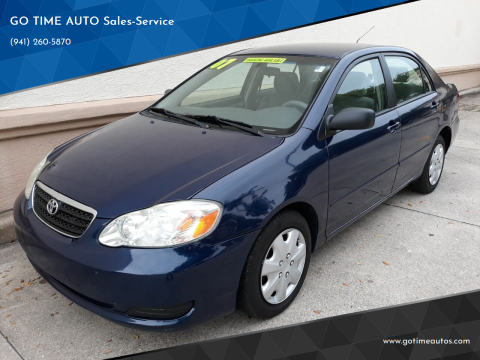 2007 Toyota Corolla for sale at GO TIME AUTO   Sales-Service in Sarasota FL