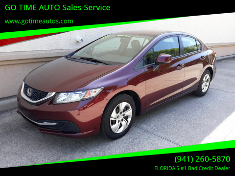 2013 Honda Civic for sale at GO TIME AUTO   Sales-Service in Sarasota FL