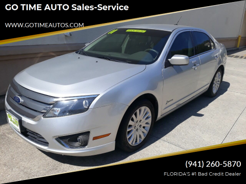 2011 Ford Fusion Hybrid for sale at GO TIME AUTO   Sales-Service in Sarasota FL
