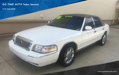 2008 Mercury Grand Marquis for sale at GO TIME AUTO   Sales-Service in Sarasota FL