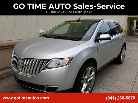 2013 Lincoln MKX for sale at GO TIME AUTO   Sales-Service in Sarasota FL