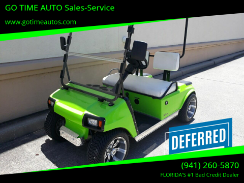 1998 Club Car Club Car for sale at GO TIME AUTO   Sales-Service in Sarasota FL