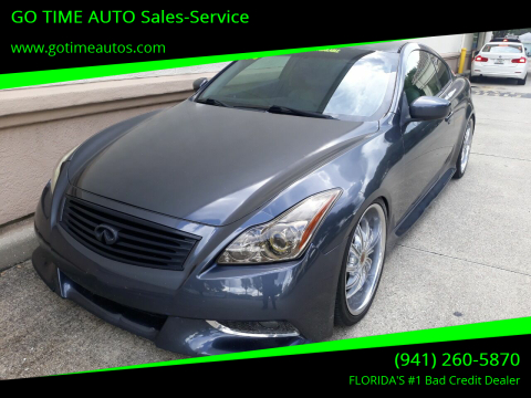 2008 Infiniti G37 for sale at GO TIME AUTO   Sales-Service in Sarasota FL