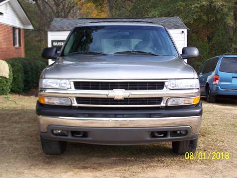 2002 Chevrolet Tahoe for sale at Bushs Auto Sales in Williamston SC