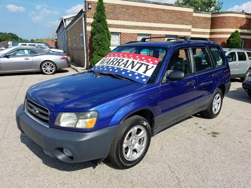 2003 Subaru Forester for sale at EDI Auto Sales in Glenview IL