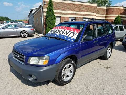 2003 Subaru Forester for sale at EDI Auto Sales in Glenview IL