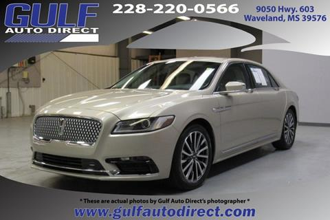 2017 Lincoln Continental for sale in Waveland, MS