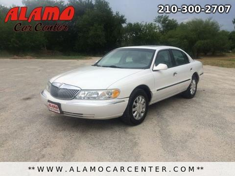 2002 Lincoln Continental for sale in San Antonio, TX