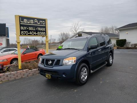 2015 Nissan Armada SV for sale at LEWIS AUTO in Mountain Home AR