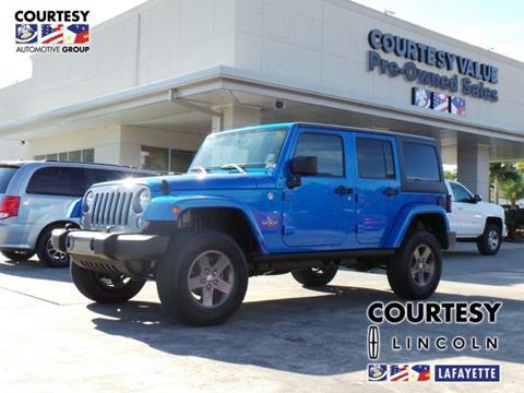 2015 Jeep Wrangler Unlimited for sale in Lafayette, LA