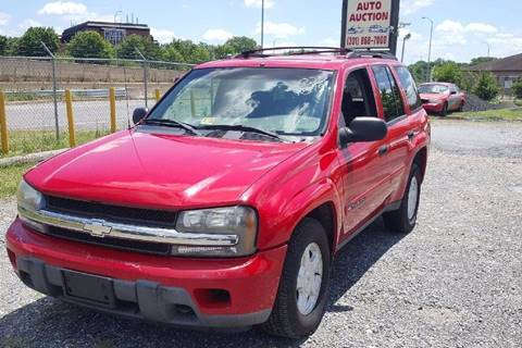 2002 Chevrolet TrailBlazer for sale at Branch Avenue Auto Auction in Clinton MD