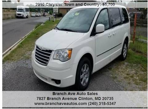 Chrysler Town And Country For Sale In Clinton Md Branch Ave Auto