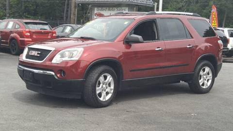 2010 GMC Acadia for sale at United Auto Service in Leominster MA