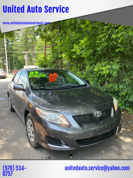 2009 Toyota Corolla for sale at United Auto Service in Leominster MA