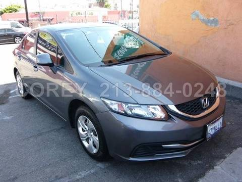 2013 Honda Civic for sale at WWW.COREY4CARS.COM / COREY J AN in Los Angeles CA