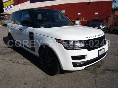 2015 Land Rover Range Rover for sale at COREY J AN / COREY4CARS in Los Angeles CA
