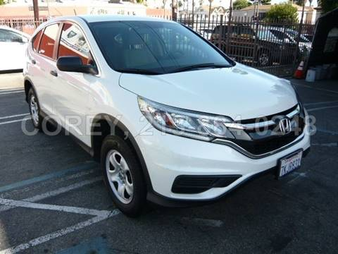 2015 Honda CR-V for sale at WWW.COREY4CARS.COM / COREY J AN in Los Angeles CA
