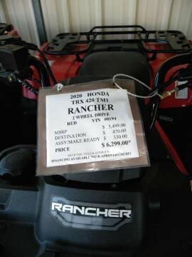 2020 Honda Trx420TM Rancher 2 Wheel Drive for sale at Irv Thomas Honda Suzuki Polaris in Corpus Christi TX