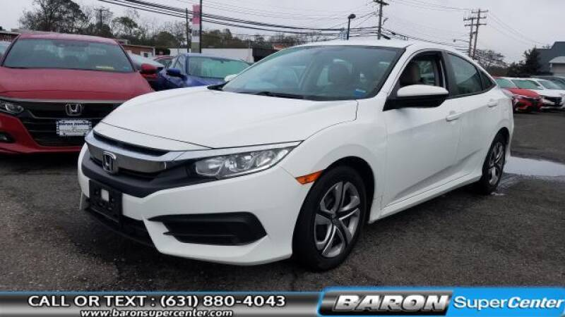 2016 Honda Civic for sale at Baron Super Center in Patchogue NY