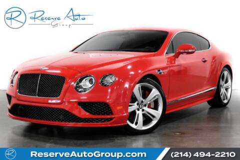 2016 Bentley Continental for sale in The Colony, TX