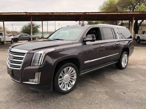 2015 Cadillac Escalade ESV for sale at FAST LANE AUTO SALES in San Antonio TX