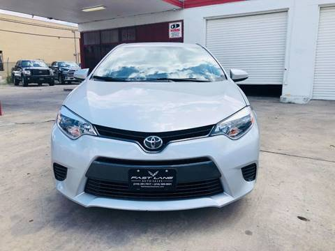 2016 Toyota Corolla for sale at FAST LANE AUTO SALES in San Antonio TX
