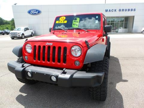 2016 Jeep Wrangler Unlimited for sale in Columbia, MS