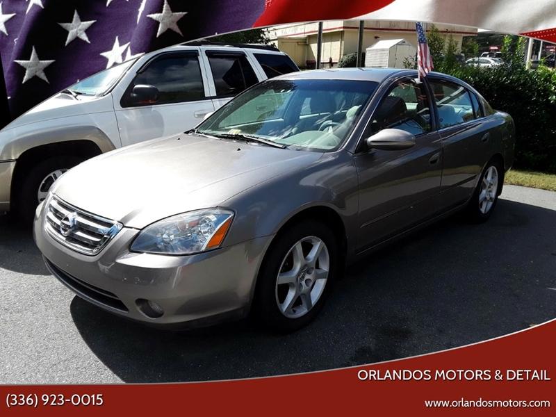 2003 Nissan Altima For Sale At Orlandos Motors U0026 Detail In Winston Salem NC