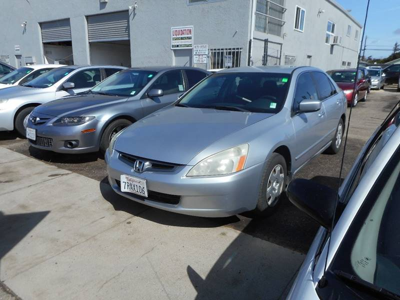 2005 HONDA ACCORD LX 4DR SEDAN silver smogged   test drive 888-483-7908 243658 miles VIN 1HGCM