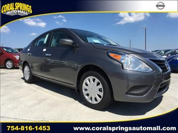 2017 Nissan Versa for sale in Coral Springs, FL