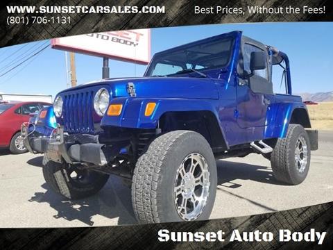 Jeep Wrangler For Sale in Sunset, UT - Sunset Auto Body