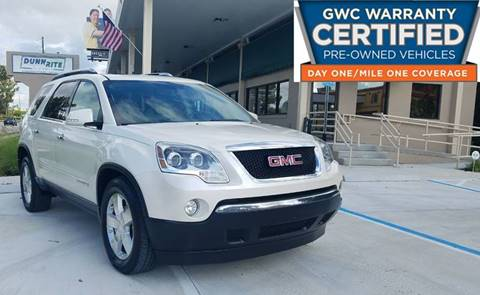 2008 GMC Acadia for sale at Dunn-Rite Auto Group in Longwood FL