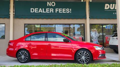 2016 Volkswagen Jetta for sale at Dunn-Rite Auto Group in Longwood FL