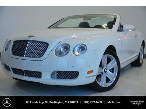 2008 Bentley Continental GTC for sale in Burlington, MA