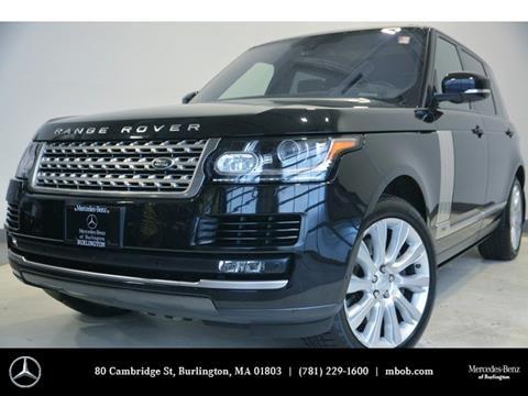 2016 Land Rover Range Rover for sale in Burlington, MA