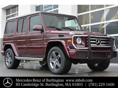 2016 Mercedes-Benz G-Class for sale in Burlington, MA