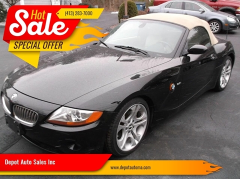 2004 BMW Z4 for sale at Depot Auto Sales Inc in Palmer MA