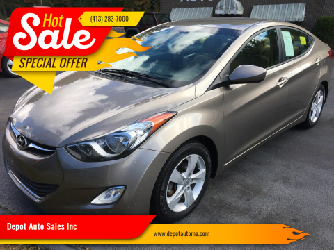 2013 Hyundai Elantra for sale at Depot Auto Sales Inc in Palmer MA