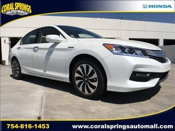 2017 Honda Accord Hybrid for sale in Coral Springs, FL