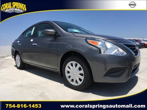2017 Nissan Versa for sale in Coral Springs FL