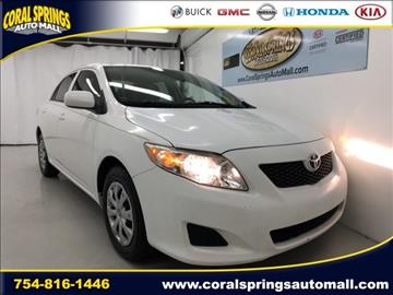 2010 Toyota Corolla for sale in Coral Springs, FL