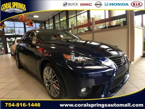 2015 Lexus IS 250 for sale in Coral Springs, FL