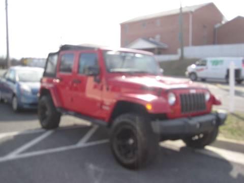 2012 Jeep Wrangler Unlimited for sale in Winchester, VA