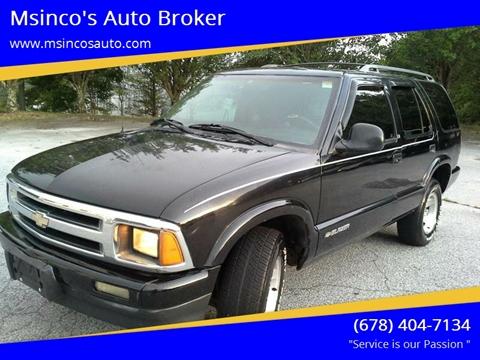 1996 Chevrolet Blazer for sale at Msinco's Auto Broker in Snellville GA