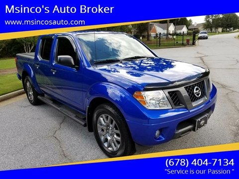 2012 Nissan Frontier for sale at Msinco's Auto Broker in Snellville GA