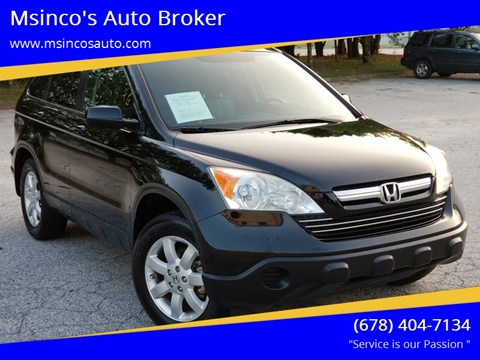 2008 Honda CR-V for sale at Msinco's Auto Broker in Snellville GA