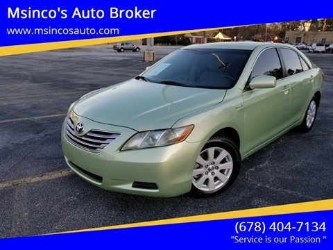 2009 Toyota Camry Hybrid for sale at Msinco's Auto Broker in Snellville GA