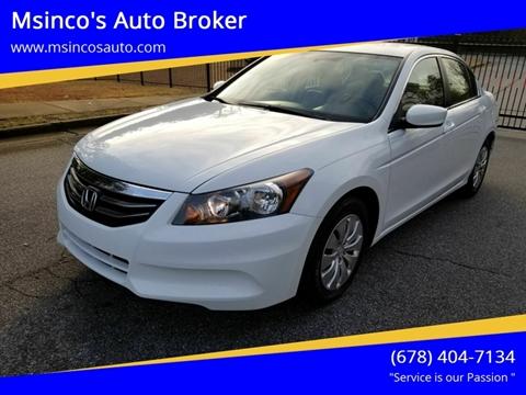 2011 Honda Accord for sale at Msinco's Auto Broker in Snellville GA