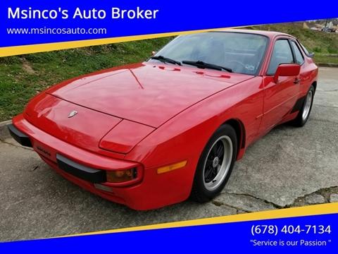 1986 Porsche 944 for sale at Msinco's Auto Broker in Snellville GA